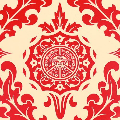 obey shepard fairey parlor print artist proof showing middle with obey star