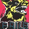 faile dog black light print showing middle with FAILE letters and dog