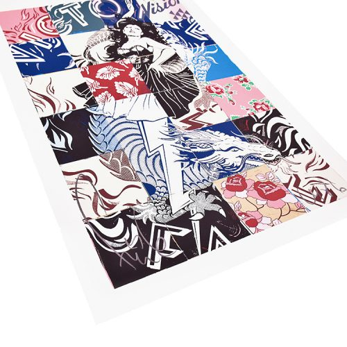 faile visions victoire print showing left side of print