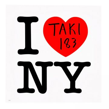 taki 183 i love ny hand finished print