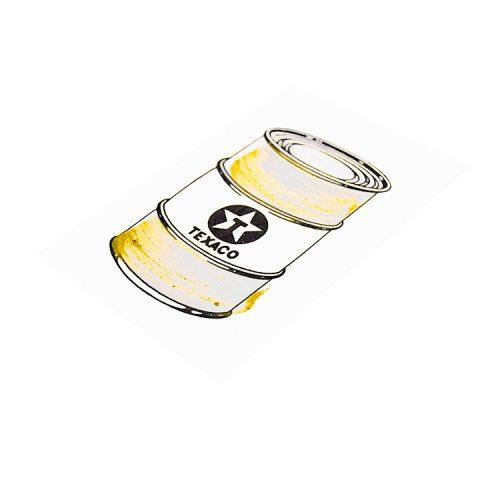 beejoir oil can gold hand embellished print side view