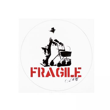 kunstrasen signed fragile sticker