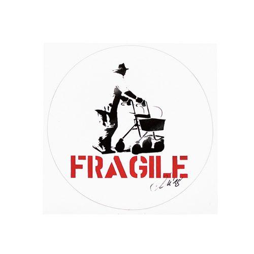 kunstrasen signed fragile sticker