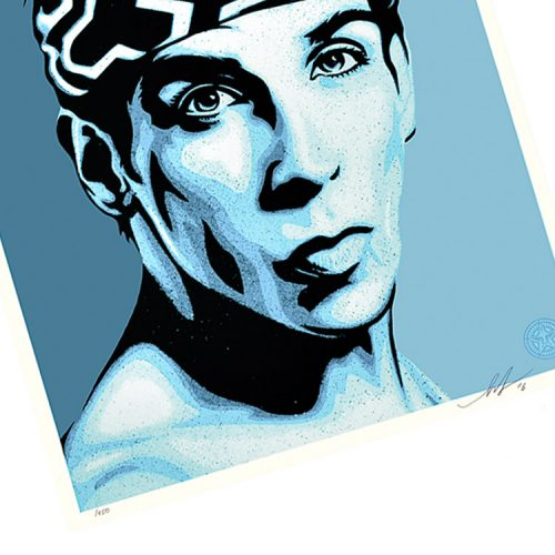shepard fairey obey zoolander print showing left side of print
