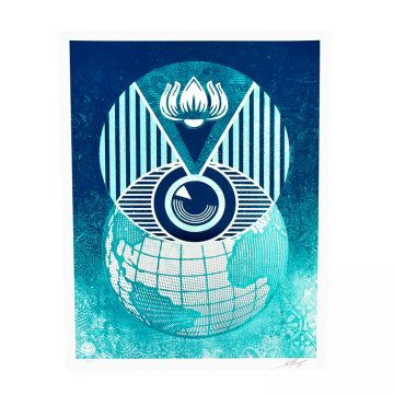 obey shepard fairey flint eye global alert limited edition print