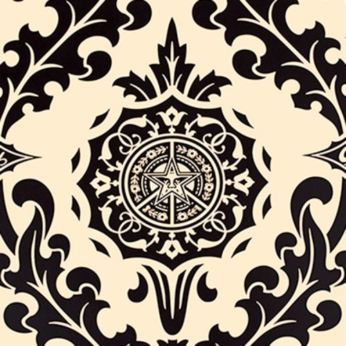 shepard fairey obey parlor print artist proof showing middle with obey star detail