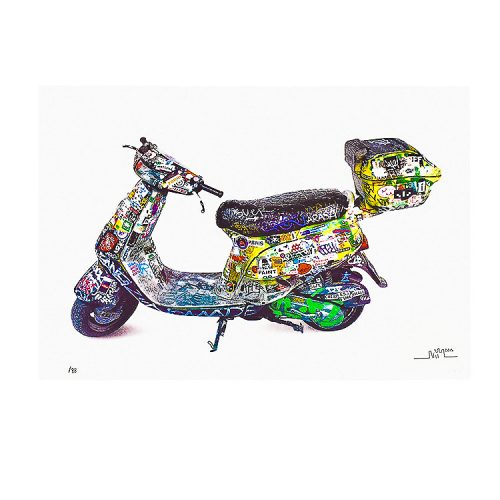invader scooter print