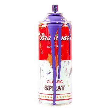 mr.brainwash spray can in purple
