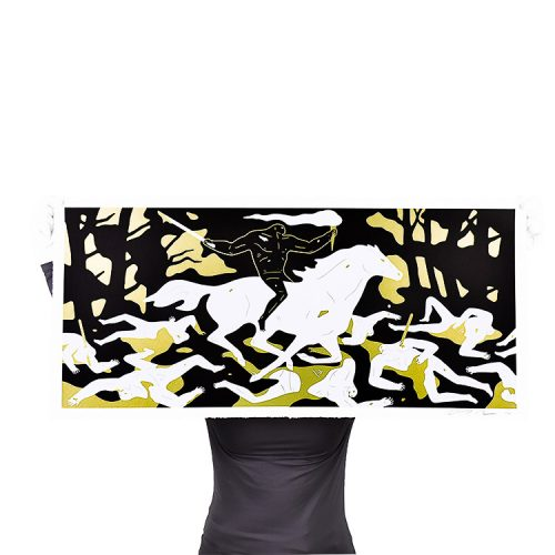 person holding cleon peterson victory gold print