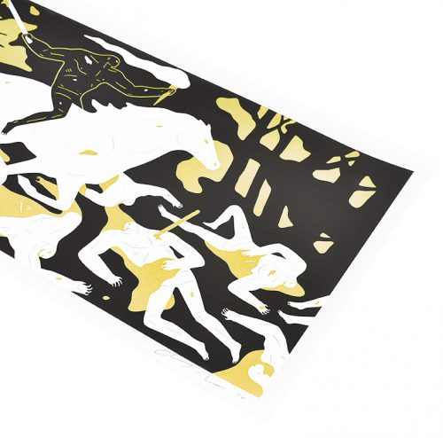 cleon peterson victory gold print showing right side of print