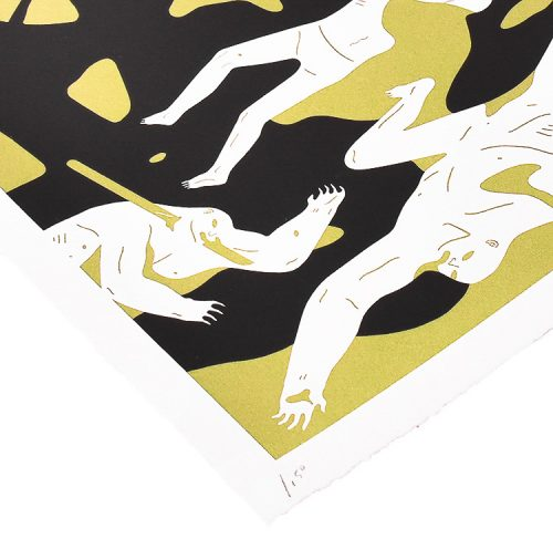 cleon peterson victory gold print showing bottom left with edition number
