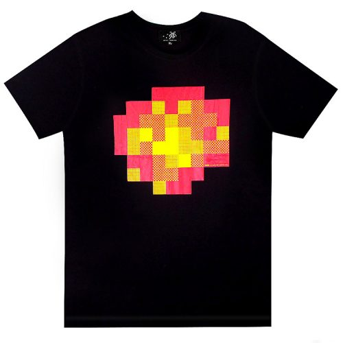 invader wipe out black t-shirt