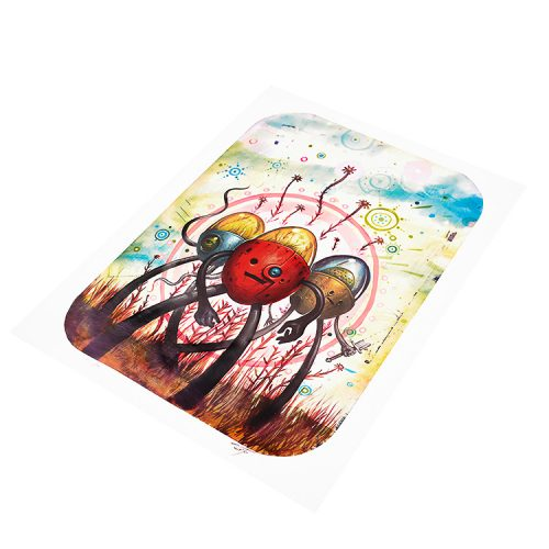 jeff soto tres flores artist proof print showing right side of print