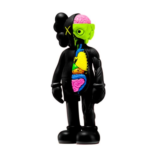 kaws companion black flayed standing