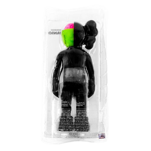 kaws companion black flayed in package from behind
