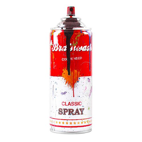 mr.brainwash spray can in black