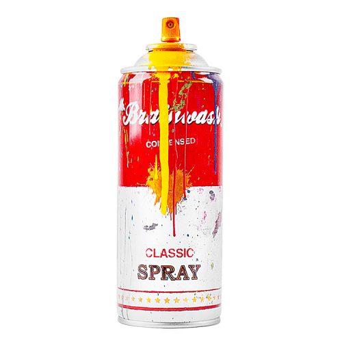 mr.brainwash yellow spray can