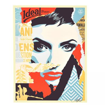 obey shepard fairey ideal power screenprint