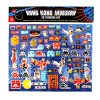 invader hong kong invasion 3d puffy stickers