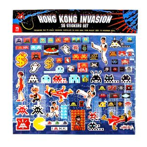 HONG KONG INVASION 3D STICKERS SET