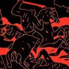 cleon peterson river of blood print showing middle with man on horse with raised sword