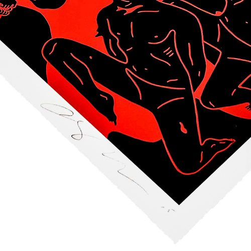 cleon peterson river of blood print showing bottom right of print with artist signature