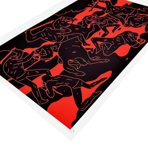 cleon peterson river of blood print showing left side of print