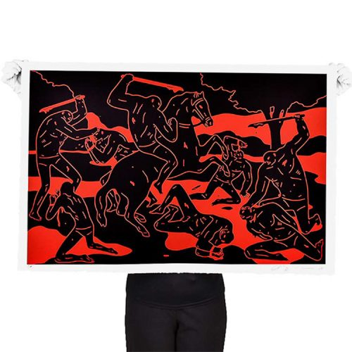 person holding cleon peterson river of blood print
