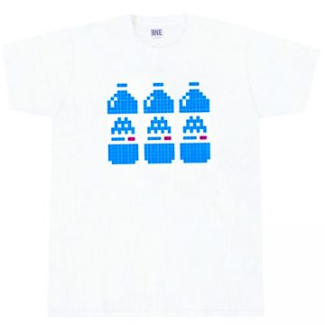 invader bne white t-shirt