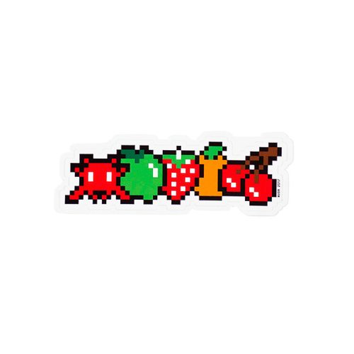 invader hello my game is fruits sticker
