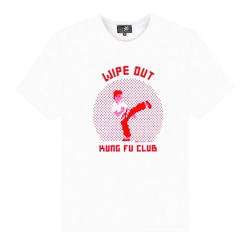 invader kung fu club t-shirt white