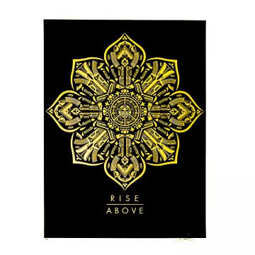 obey rise above screenprint