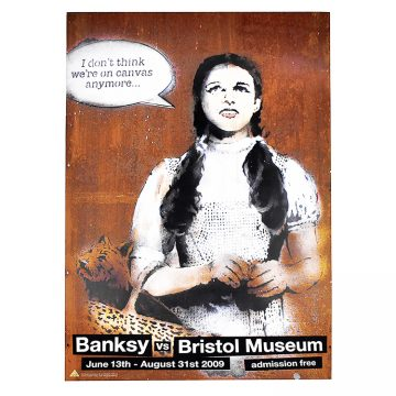 banksy dorothy poster from banksy vs bristol museum show