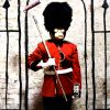 banksy time out london showing middle of poster with banksy self potrait detail
