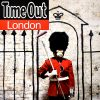 banksy time out london showing time out text and banksy self potrait
