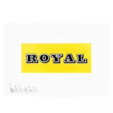 ben eine royal print
