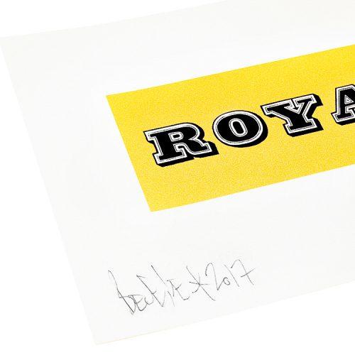 ben eine royal print showing left side of print with ben eine signature