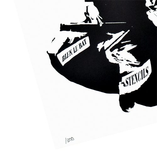 blek le rat the man who walks through walls showing bottom left of print with edition number