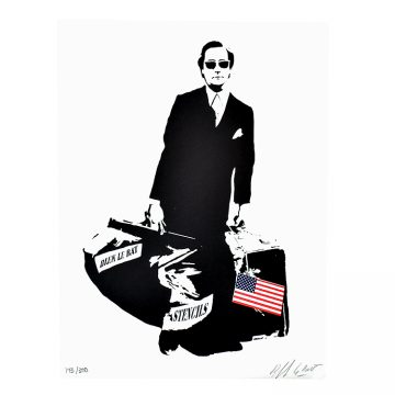blek le rat the man who walks through walls print