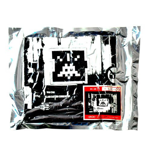 invader hk 59 t-shirt in black in original sealed package