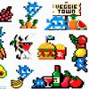 invader veggie stickers showing top right with veggie town text and other invader sticker detail