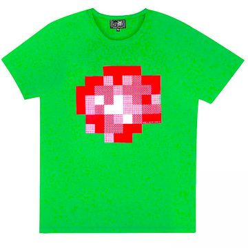 invader wipe out t-shirt in green color