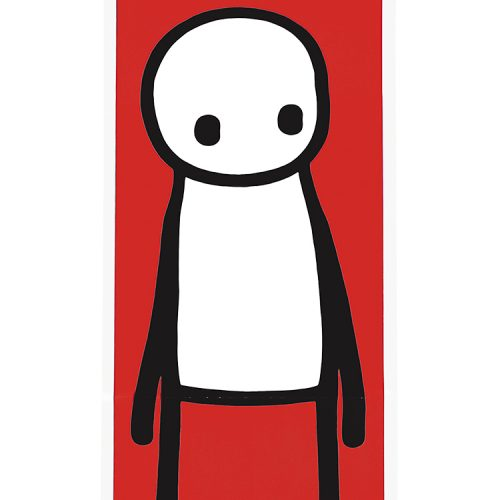stik standing figure lithograph showing middle of print detail with stik figure