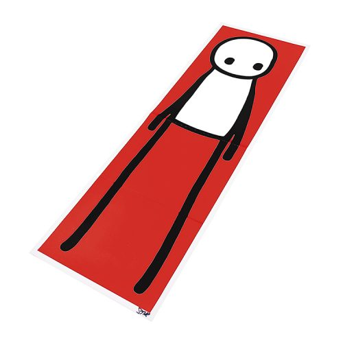 stik standing figure lithograph showing right side of print