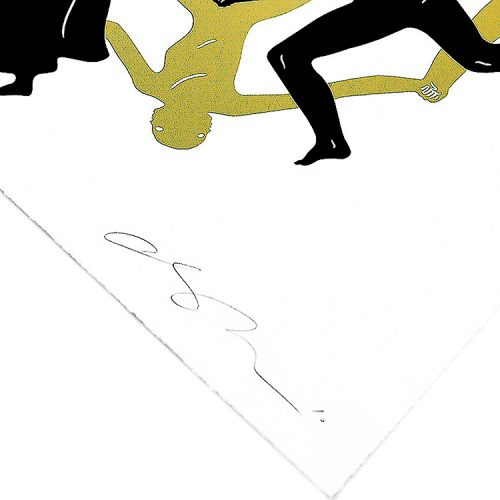 cleon peterson endless sleep screenprint showing bottom right of print with cleon peterson signature