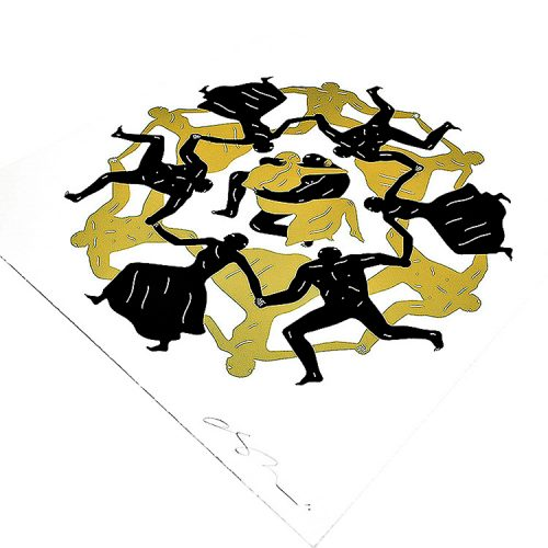 cleon peterson endless sleep screenprint showing right side og print detail