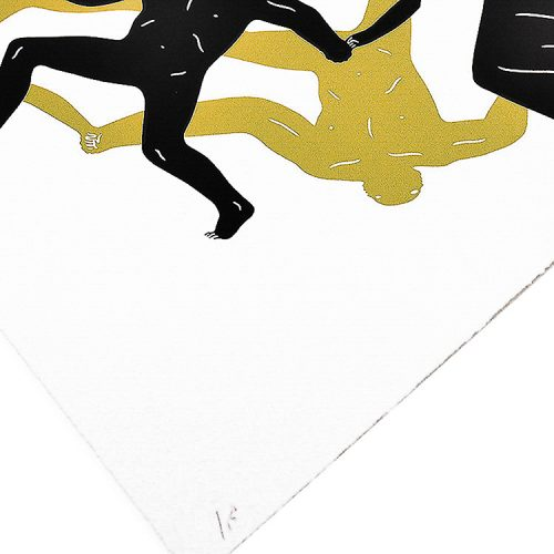 cleon peterson endless sleep screenprint showing bottom left of print with edition number