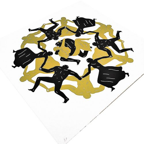 cleon peterson endless sleep screenprint showing left side of print detail