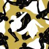 cleon peterson endless sleep black screenprint middle detail with couple in embrace