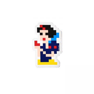 invader snow white sticker